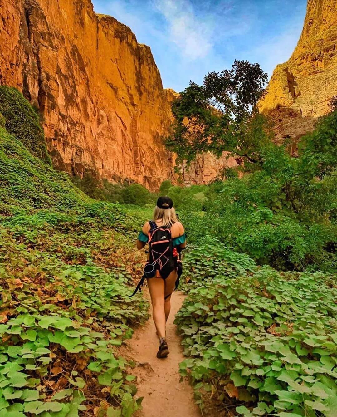 hiking outdoors in arizona