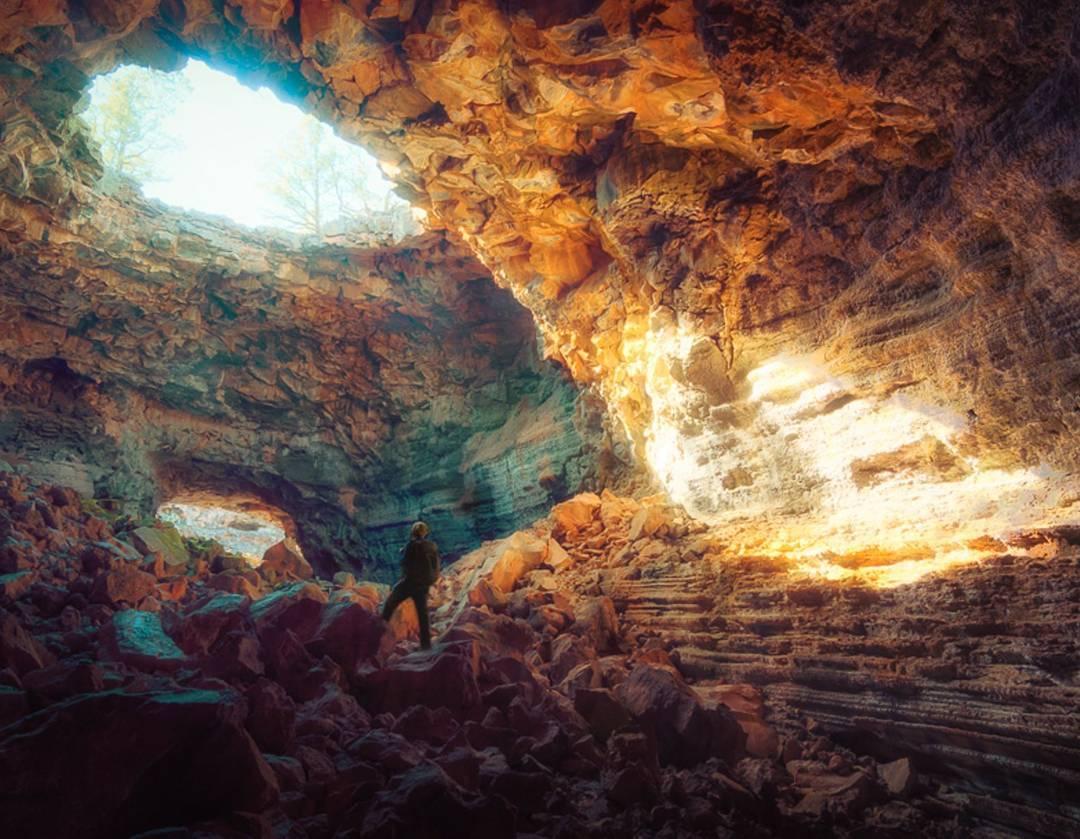 Big Skylight cave El Malpais National Monument