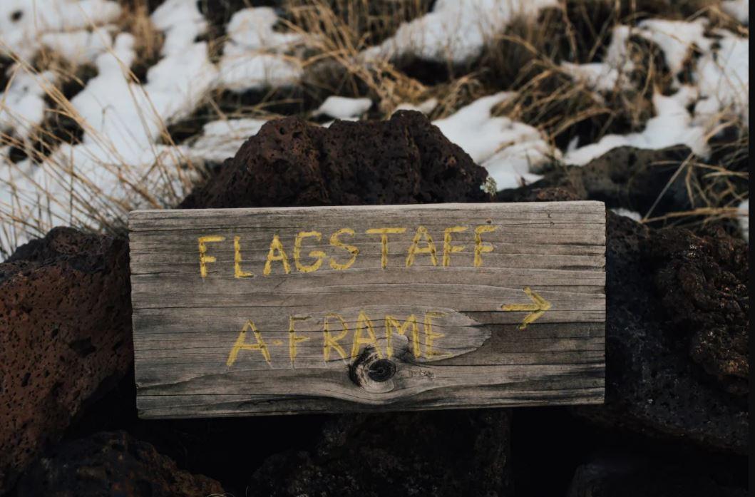 Flagstaff A-Frame sign