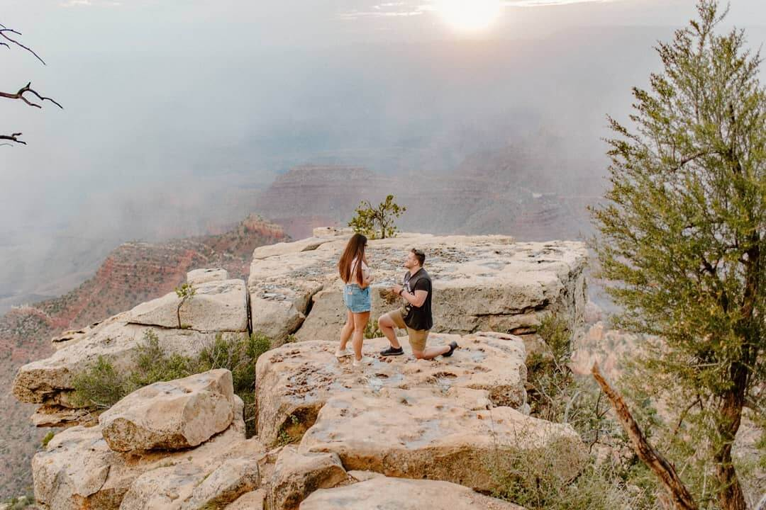 Grand Canyon proposal sweet