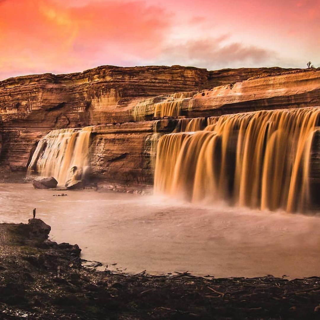 Grand Falls chocolate falls