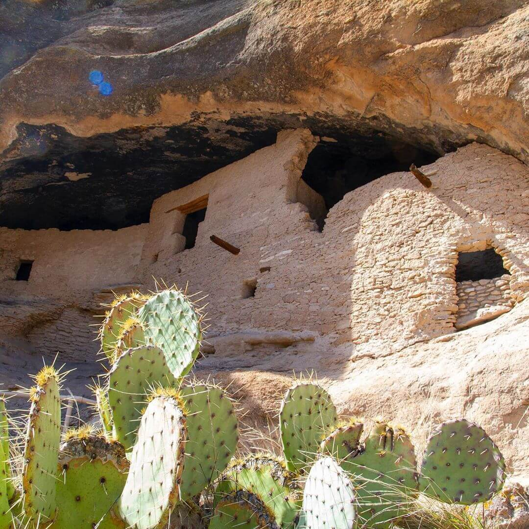gila cliff dwellings ancient site new mexico