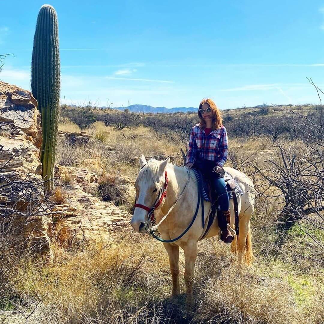 horseback arizona desert