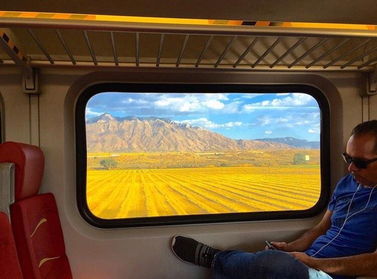 New Mexico train ride view