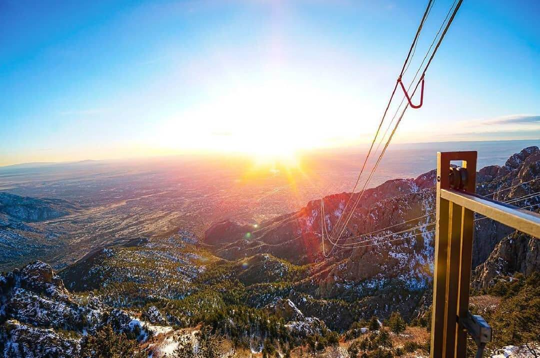 Sandia Peak Tramway first time in new mexico