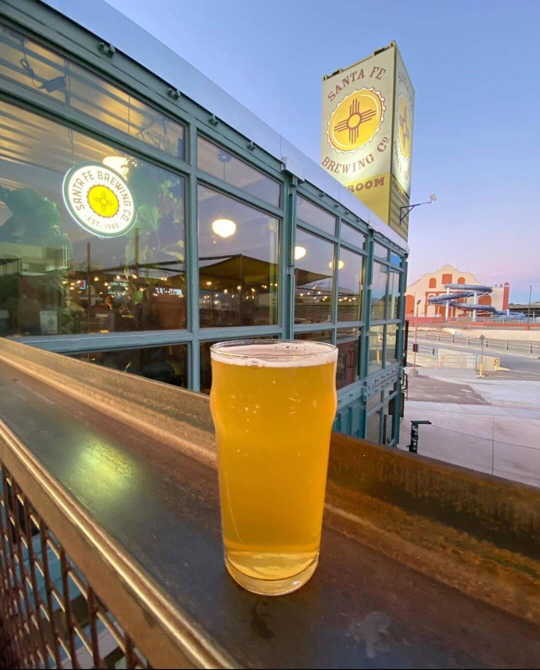 Santa Fe Brewing Company beer hopping nm