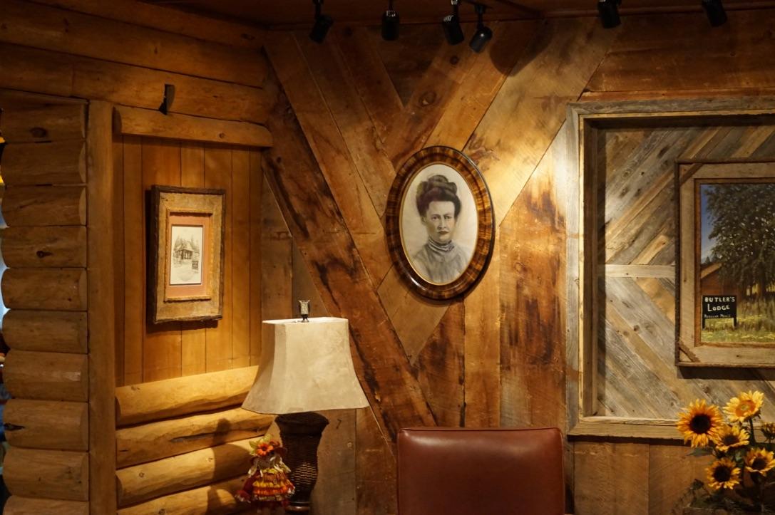 Wild West lodge interior