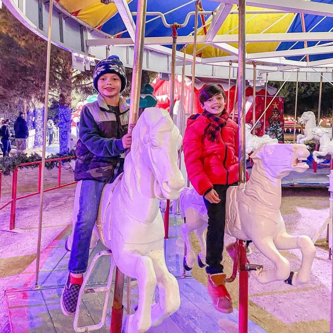 Carousel ride christmas